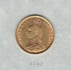 1892 Victoria Jubilee Head Gold Half Sovereign In Near Extremely Fine Condition