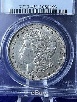 1893 Morgan Silver $1 Dollar Low Mintage PCGS XF45 Choice Extremely Fine