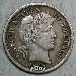 1895 Barber Dime, Extremely Fine, Key Date 0624-03