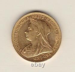1895s Victorian Full Gold Sovereign In Good Extremely Fine Or Better Condition