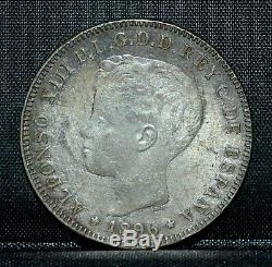 1896 Puerto Rico 40 Centavos Xf Extremely Fine Original L@@k Trusted
