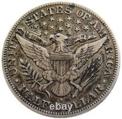 1896 S Silver USA Barber Half Dollar Coin Original Extremely Fine Condition