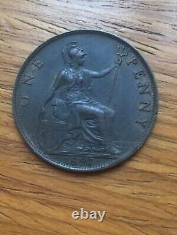 1897 victoria penny 0. NE Error Super Rare Coin Extremely Fine