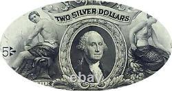 1899 $2 Silver Certificate Mini Porthole Washington Cameo Choice Extremely Fine