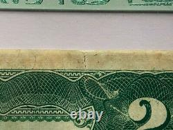 1899 $2 Silver Certificate Note Fr. 253 PCGS 40 Extremely Fine Mini Porthole