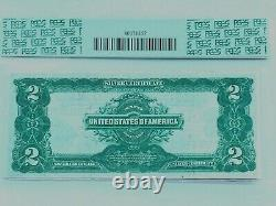 1899 $2 Silver Certificate Note PCGS 40 PPQ Extremely Fine Fr. 257