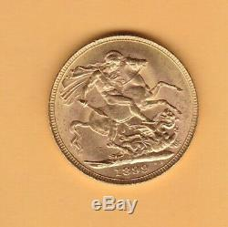 1899 Old Head Victoria Gold Sovereign In Near Extremely Fine Condition