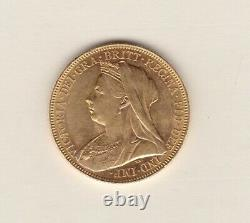 1901m Victoria Old Head Gold Sovereign In Extremely Fine Condition