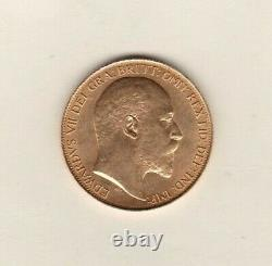 1902 Edward VII Gold £2 Double Sovereign Coin In Extremely Fine Condition