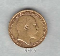 1903s Gold Half Sovereign In Near Extremely Fine To Extremely Fine Condition