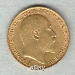 1904 Gold Half Sovereign In Near Extremely Fine Condition