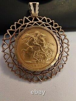 1905 Edward VII Gold Sovereign In Near Extremely Fine Condition Sydney Mint