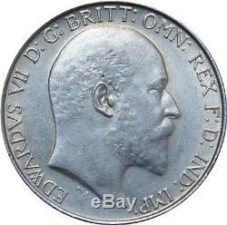 1905 Florin. Edward VII, Good extremely fine. Spink UNC £1850. Rare