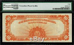 1907 $10 Gold Certificate FR-1172 PMG 40 EPQ Extremely Fine Teehee / Burke