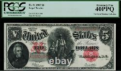 1907 $5 Legal Tender FR-91 WoodChopper Graded PCGS 40PPQ Extremely Fine