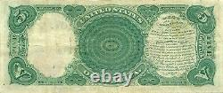 1907 $5 Legal Tender Note Woodchopper Type Sharp Very Fine-extremely Fine