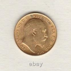 1907 Gold Half Sovereign In Extremely Fine Or Better Condition