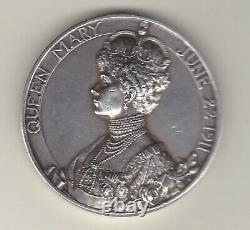 1911 George V & Queen Mary Coronation Silver Medal In Extremely Fine Condition