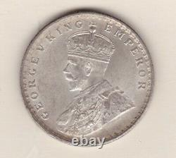 1911c India George V Silver Rupee In Extremely Fine Or Better Condition