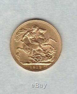 1912 George V Gold Sovereign In Good Extremely Fine Condition