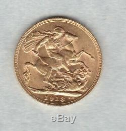 1913 George V Gold Sovereign In Good Extremely Fine Condition