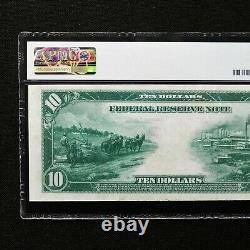 1914 $10 FRN Boston, Fr # 907a, PMG 40 Extremely Fine, White/Mellon
