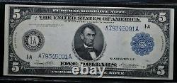 1914 $5 FEDERAL RESERVE NOTE Fr#847a EXTREMELY FINE BRIGHT CRISP AND WHOLESOME