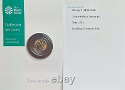 1914 George V Gold Half Sovereign In Extremely Fine Condition