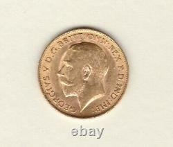 1915 George V Gold Half Sovereign In Extremely Fine Condition