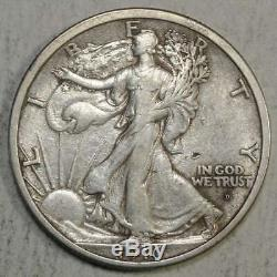 1916-D Walking Liberty Half Dollar, Extremely Fine Discounted 0603-05