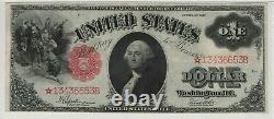 1917 $1 Legal Tender Red Seal Star Note Fr. 39 Pmg Extremely Fine 45 Epq (653b)