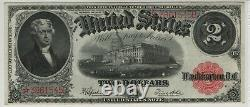 1917 $2 Legal Tender Red Seal Star Note Fr. 60 Pmg Extremely Fine Xf 45 (545b)