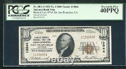 1929 $10 Bank Of America San Francisco, Ca Ch. #13044 Pcgs Extremely Fine-40ppq