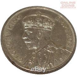 1934/35 Australian Melbourne Centenary Florin 92.5% Silver Extremely Fine Grade