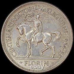 1934/5 Florin Melbourne Centenary Extremely Fine