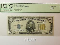 1934 A $5 Five Dollar North Africa Silver Certificate PCGS 45 Extremely Fine