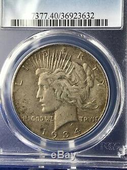 1934-s Semi-key Peace Silver Dollar $1 Pcgs Xf40 Extremely Fine