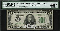 1934A $500 Federal Reserve Note Chicago FR-2202-G PMG 40 EPQ Extremely Fine