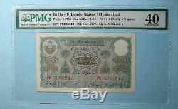 1945 Hyderabad 5 Rupees Pmg 40 Extremely Fine Inv#pm110-3