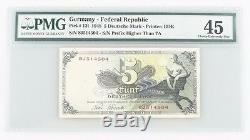 1948 West Germany 5 Deutsche Mark (PMG XF-45) Choice Extremely Fine 5 Mark P#13i