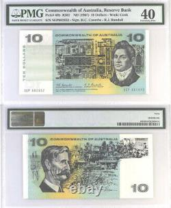 1967 Australia Coombs Randall $10 Banknote PMG Extremely Fine 40 #6041