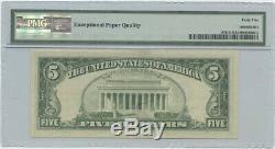 1981 $5 FRN Chicago PMG 45 CH Extremely Fine EPQ Offset Printing Error