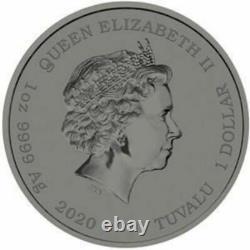 2020 Tuvalu Colour James Bond 007 1oz Fine Silver Coin. Extremely Rare