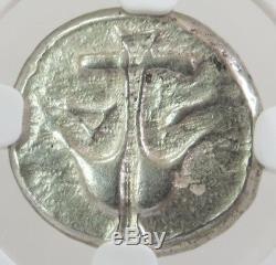 425 350 Bc Silver Macedon Neapolis Triobol Gorgoneion Coin Ngc Extremely Fine