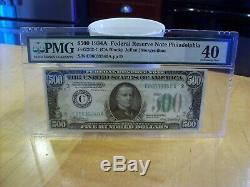 $500 FIVE HUNDRED DOLLAR BILL 1934 A Philadelphia PMG 40 Extremely Fine Nice