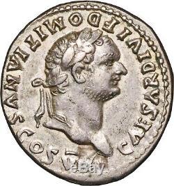 81-96 A. D Domitian, As Cæsar, Silver Denarius Coin almost Extremely Fine