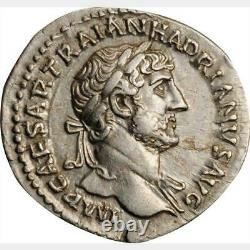 ANCIENT ROMAN SILVER DENARIUS HADRIAN 117-138 A. D. Extremely Fine