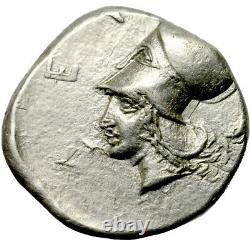 Akarnania. LEUKOS. AR stater. 375-350 B. C. Nearly Extremely Fine. 9754