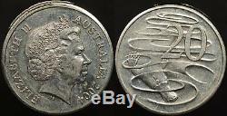Australia 2004 20c 20 Cent Ramstrike Error EF Extremely Fine