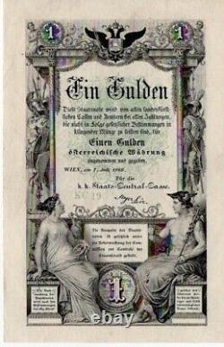 Austria 1 gulden 1866 Extremely Fine or Better RARE grade